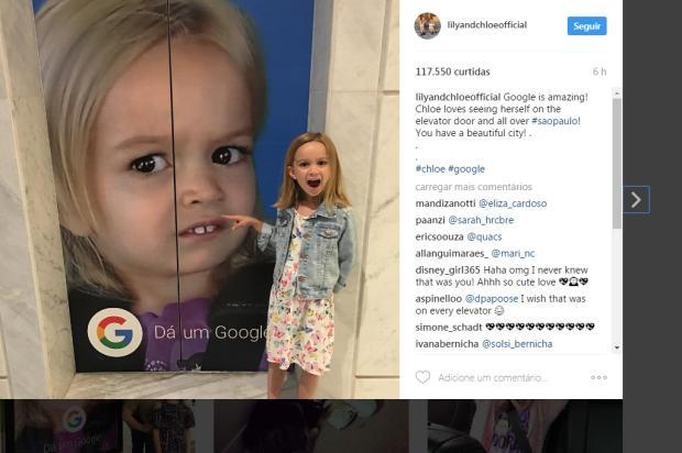 Chloe e Giovana (a do forninho) se encontram em São Paulo Chloe / Instagram/Instagram