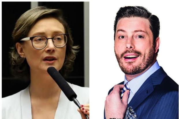 Deputada ameaça processar Danilo Gentili Montagem/Divulgação