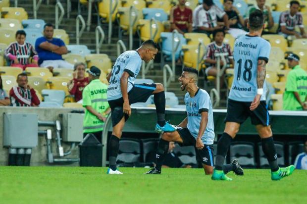 """Guerrinha: """"Time do Grêmio está redondo do meio para a frente"""" Lucas Uebel/Divulgação/Grêmio.net"""