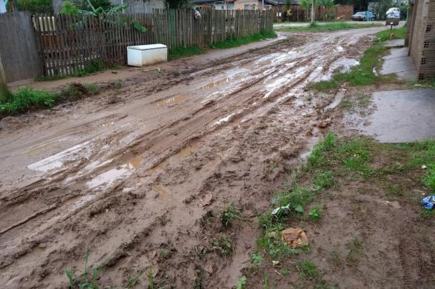 Sem pavimentação, ruas de Viamão estão cheias de lama e buracos Arquivo pessoal/Leitor/DG