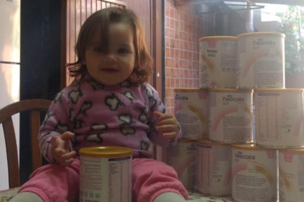 Secretaria da Saúde libera leite especial para menina de Canoas após três meses de espera Arquivo pessoal/Leitor/DG