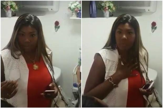 Mãe de Ludmilla tira satisfação com funcionária de salão e divulga vídeo na internet Reprodução / Facebook / Silvana Oliveira/Facebook / Silvana Oliveira