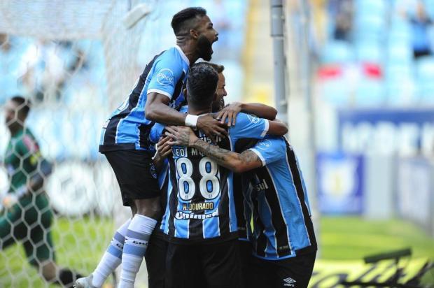 """Cacalo: """"O toque de bola do Grêmio chama a nossa a atenção"""" Carlos Macedo/Agencia RBS"""