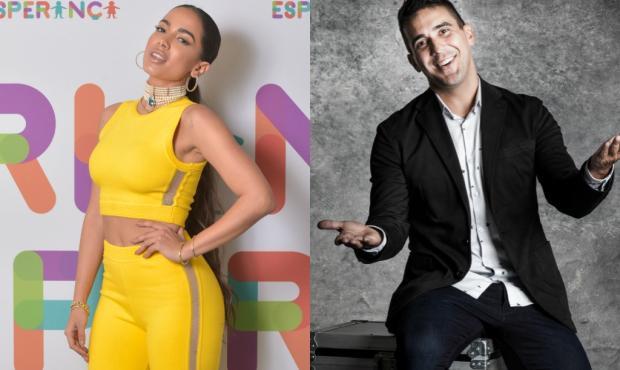 """André Marques pergunta se Anitta dorme pelada e ela provoca: """"Você não lembra?"""" TV Globo / Divulgação/Divulgação"""