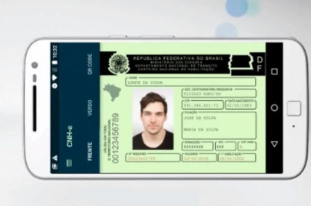 CNH digital já pode ser baixada em sistema Android para demonstração Reprodução/Serpro