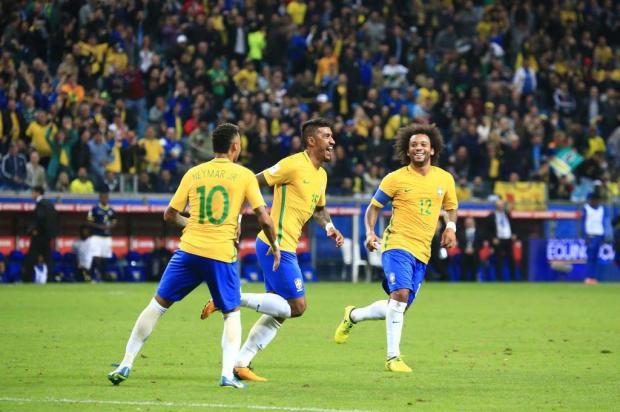 """Luciano Périco: """"Seleção construiu uma vitória tranquila na Arena"""" Fernando Gomes/Agencia RBS"""
