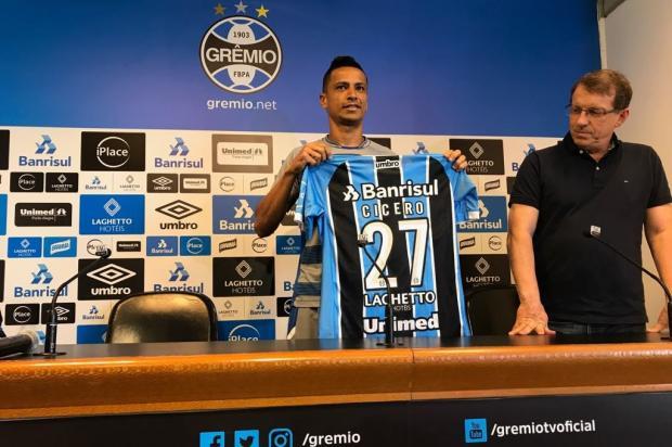 Cícero entra no BID e está liberado para estrear no Grêmio contra o Barcelona de Guayaquil Sérgio Boaz/