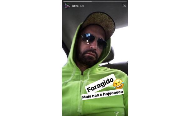 """Latino paga pensão do filho e brinca: """"Foragido, mas não hoje"""" Reprodução / Instagram/Instagram"""