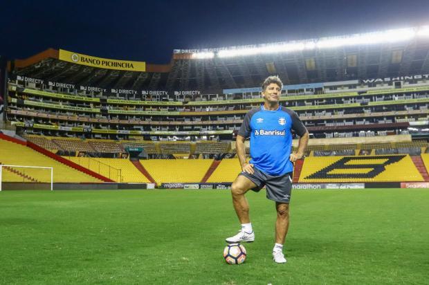 """Guerrinha: """"Goleada em Guayaquil não foi por acaso"""" Lucas Uebel / Grêmio, Divulgação/Grêmio, Divulgação"""