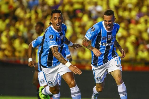 Grêmio goleia o Barcelona-EQU em Guayaquil e encaminha vaga para a final da Libertadores Lucas Uebel/Gremio/Divulgação