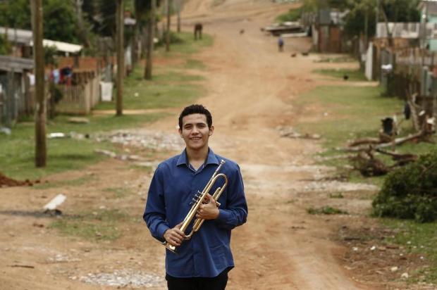 Trompetista de Alvorada ainda precisa de ajuda para estudar na Bélgica Carlos Macedo/Agencia RBS