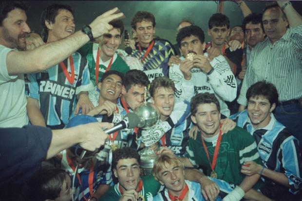 """Cacalo: """"Estive presente nas quatro finais em que o Grêmio participou e estarei na quinta"""" José Doval / BD/31/8/1995/BD/31/8/1995"""
