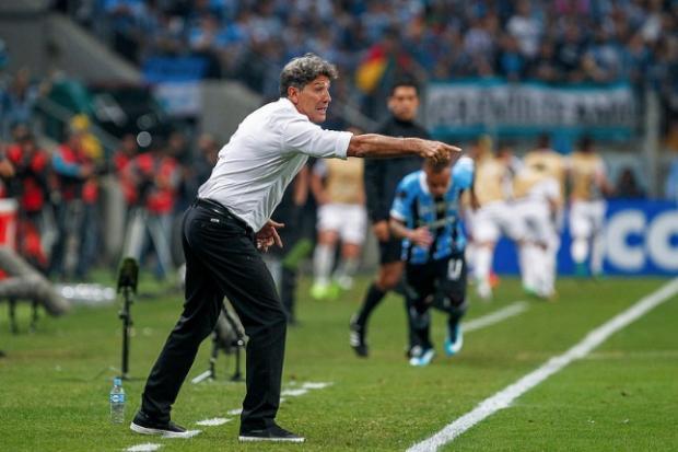 """Guerrinha: """"Será que vem surpresa?"""" Lucas Uebel/Grêmio FBPA"""