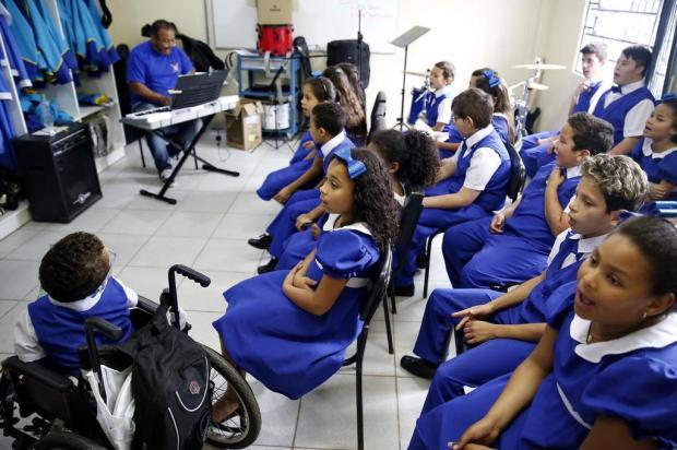 Escola de Viamão cria coral que reúne crianças com e sem limitações Mateus Bruxel/Agencia RBS