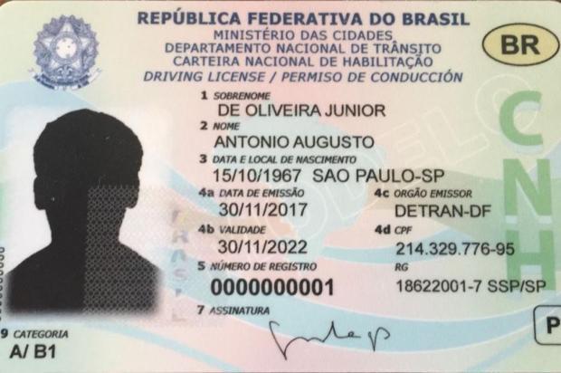 Carteira de motorista terá chip a partir de 2019 Divulgação/Ministério das Cidades