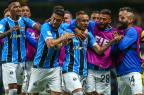 """Cacalo: """"Que venha Cristiano Ronaldo! A tua hora vai chegar!"""" Lucas Uebel / Grêmio, Divulgação/Grêmio, Divulgação"""