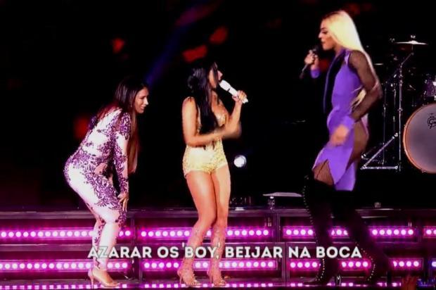 Diferença de altura entre Simone & Simaria e Pabllo Vittar em show vira piada Reprodução/Globo