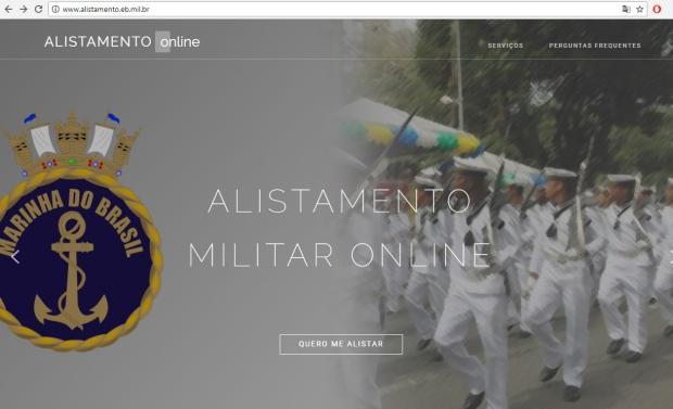 Alistamento militar obrigatório pode ser feito pela internet /