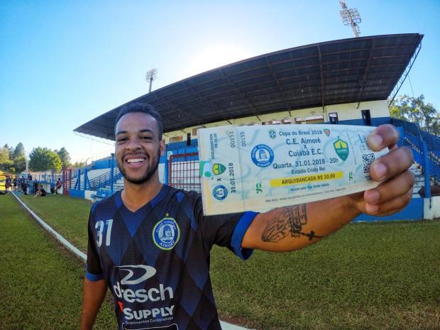 O primeiro jogo por competições nacionais da história do Aimoré Digue Cardoso Site ¿?ndio Capilé / Divulgação/Divulgação