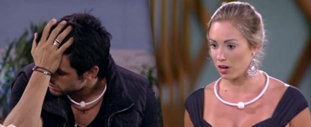 """Jéssica se irrita com choro de Lucas e dispara: """"Não aguenta mais, tem uma porta lá. Tchau!"""" TV Globo / Reprodução/Reprodução"""