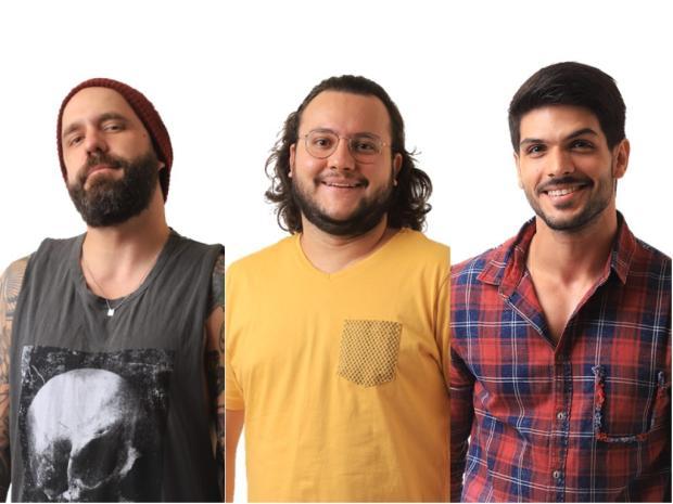 Caruso, Diego e Lucas estão no paredão triplo TV Globo / Divulgação/Divulgação
