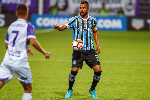 Grêmio sai na frente, mas cede empate ao Defensor na estreia na Libertadores LUCAS UEBEL/GREMIO FBPA