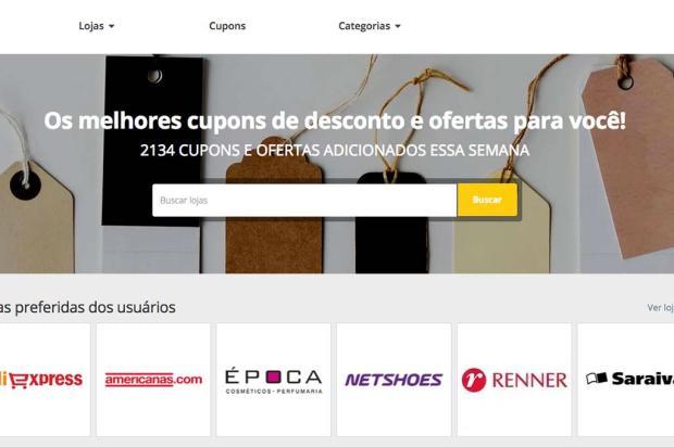 ClicRBS lança site de cupons de desconto Reprodução / clicRBS Cupons/clicRBS Cupons