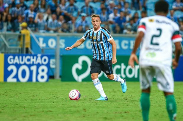 """Luciano Périco: """"Quem sai para Arthur voltar?"""" Lucas Uebel / Grêmio/Divulgação/Grêmio/Divulgação"""