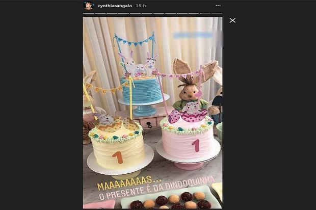 Ivete Sangalo comemora primeiro mês das gêmeas Helena e Marina Reprodução / Instagram/Instagram