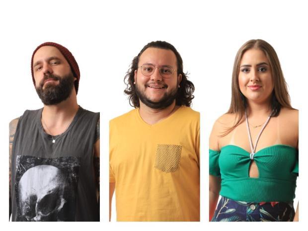 Caruso, Diego e Patrícia estão no sétimo paredão do BBB18 TV Globo / Divulgação/Divulgação