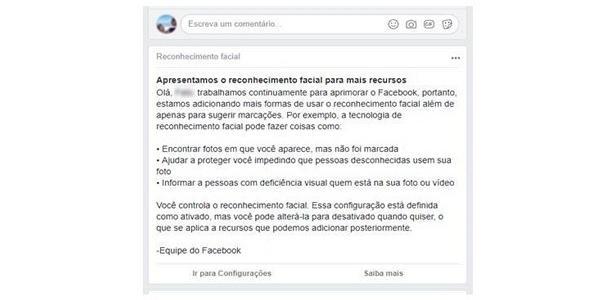 Saiba como evitar o reconhecimento facial no Facebook Reprodução / Facebook/Facebook