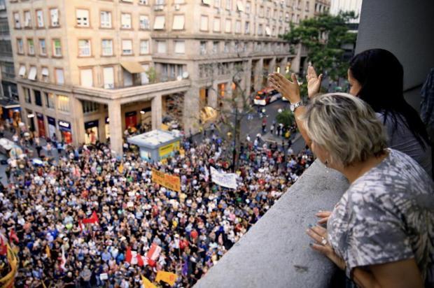 FOTOS: ato em Porto Alegre homenageia a vereadora Marielle Franco Anselmo Cunha/Agencia RBS