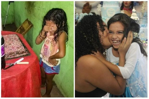 Menina que comoveu a internet com bolo de aniversário ganha festa temática Reprodução / Facebook/Facebook