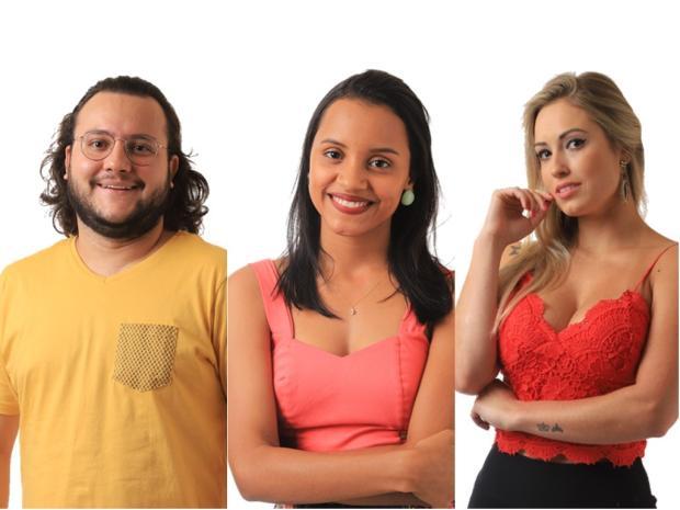 Diego, Gleici e Jéssica formam o oitavo Paredão do BBB18 TV Globo / Divulgação/Divulgação