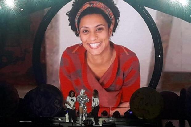 Katy Perry faz homenagem para a vereadora Marielle durante show Reprodução/Twitter