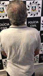 Preso condenado por tentar matar a mulher com uma talhadeira em Porto Alegre Divulgação, Polícia Civil/