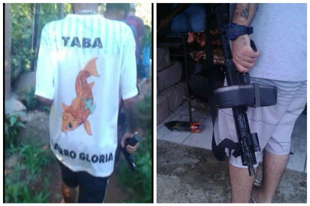 Criminosos faziam segurança uniformizados em pontos de tráfico na Capital Polícia Civil / Divulgação/Divulgação