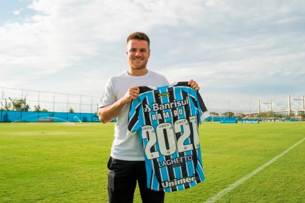 """Cacalo: """"Ramiro é coadjuvante e protagonista no Grêmio"""" Luciano Amoretti / Divulgação Grêmio/Divulgação Grêmio"""