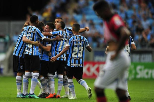 Grêmio goleia o Brasil-Pel e fica mais perto do título do Gauchão Carlos Macedo/Agencia RBS