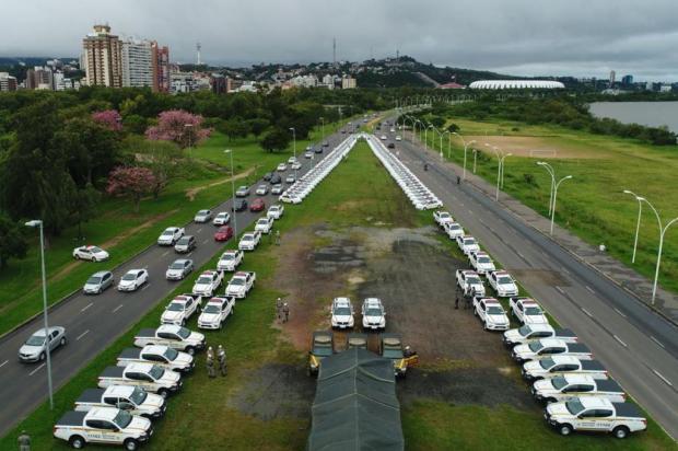 Brigada Militar recebe 114 novas viaturas, que serão usadas em 54 municípios Robson Alves / BM/Robson Alves / BM