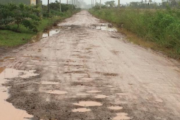 Falta de pavimentação em rua incomoda moradores de Torres, no Litoral Norte Arquivo Pessoal / Leitor/DG/Leitor/DG