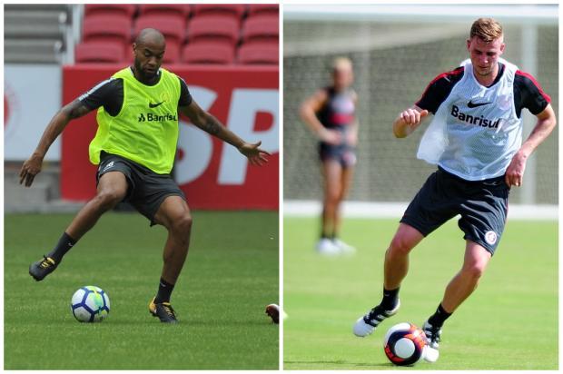 Moledo ou Klaus: quem deve ser o companheiro de Cuesta na zaga do Inter? Montagem sobre fotos / Agência RBS/Agência RBS