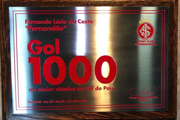 """Neto Fagundes: """"O Gol 1000 ou o Gol 1?"""" Inter / Twitter/Reprodução/Twitter/Reprodução"""