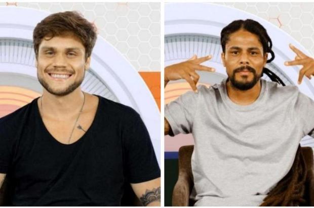BBB18: Viegas é eliminado com 57% dos votos, e Breno é o novo líder da casa Montagem sobre imagens da TV Globo/Reprodução