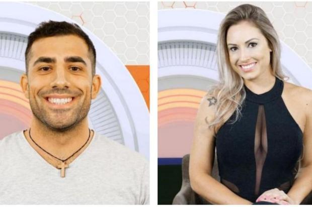 Kaysar e Jéssica formam novo paredão do BBB18 Montagem sobre fotos da TV Globo/Divulgação