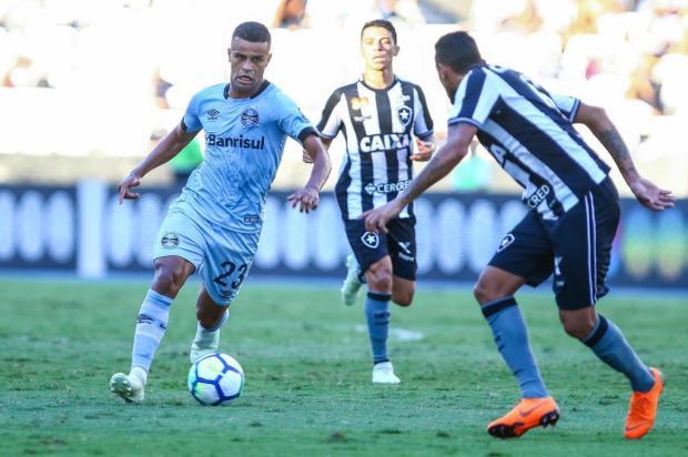 """Guerrinha: """"Com titulares, vitória do Grêmio contra o Botafogo é muito possível"""" Lucas Uebel/Grêmio/Divulgação"""