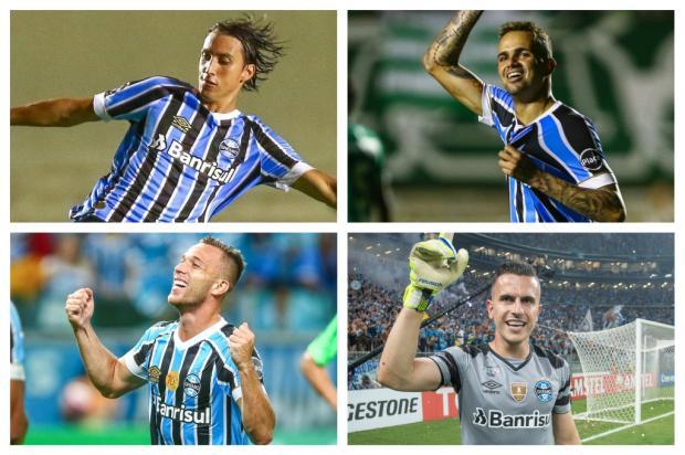 O que os selecionáveis do Grêmio podem mostrar a Tite contra o Cerro Porteño Montagem sobre fotos de Lucas Uebel, Grêmio/Divulgação/