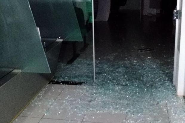 Criminosos usam marretas para atacar agências bancárias no centro do Estado Divulgação/Polícia Civil