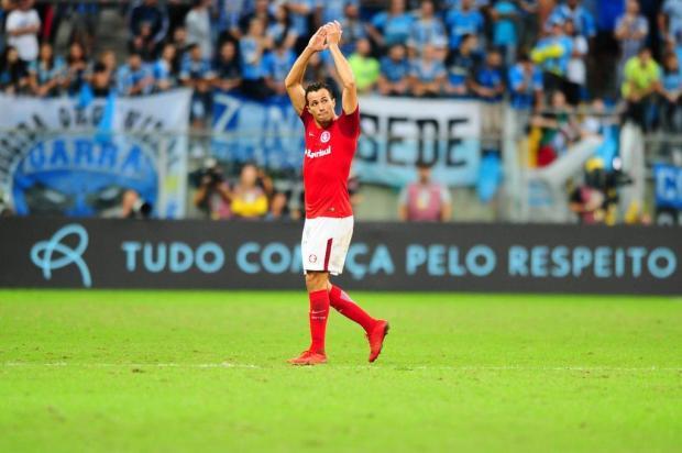 """Guerrinha: """"A presença de Damião é importante para o Inter, mesmo que ele não esteja na ponta dos cascos"""" Carlos Macedo/Agencia RBS"""
