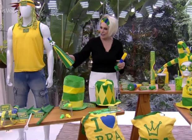 Ana Maria Braga comete gafe ao dar dicas para a torcida brasileira na Copa do Mundo Globo / Reprodução/Reprodução